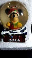 "New 2 "" Mini JC Penney DISNEY Mickey Mouse Christmas Snowglobe Snow Globe 2014"