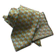 Cravatta di seta stampata e POCHETTE da taschino abbinata RASO di SETA COMPLETO
