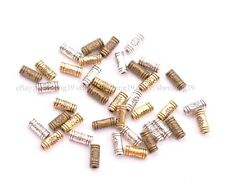 100Pcs Antique Silver/Gold/Bronze Charm TUBE Spacer Beads 9MM SH3032