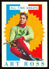 1960 61 TOPPS HOCKEY #27 ART ROSS ALL TIME GREATS EX-NM BOSTON BRUINS HOF