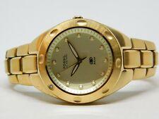 Fossil Blue AM-3356 Gold Tone Quartz Analog Men's Watch