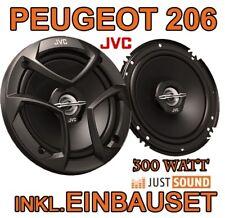 Peugeot 206 206cc 206sw 206+ JVC Lautsprecher BOXEN EINBAUSET 16cm 2-WEGE SYSTEM