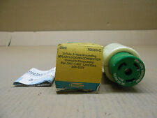 1 NIB LEVITON 70530-C NYLON LOCKING CONNECTOR 30A 125V 2P 3W GROUNDING 30 AMP