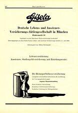 Lebensversicherung Gisela München XL Reklame 1927 Rindermarkt Aussteuer