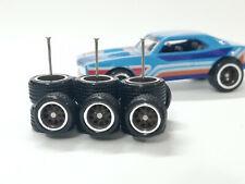 Hot Wheels 1/64 Rubber Wheels Real Riders > 67 Camaro C Nova > 10/12mm > 3 sets