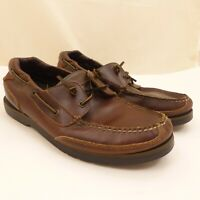 Sperry TOP-SIDER Brown Leather Boat Shoes MENS 13M Lace-Up or Slip-On A11 CH08