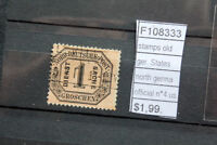 STAMPS OLD STATES GERMANY NORTH GERMANY OFFICIAL N°4 USED (F108333)