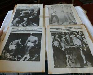 LOT Vintage Boxing Programs Photos Signs Sullivan Patterson Clay Marciano LOOK