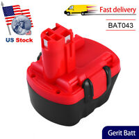 BAT043 Replace for Bosch 12V Battery 3.6Ah Ni-Mh BAT045 BAT120 BAT139 GSR 12-2