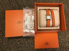 Mint condition HERMES HEURE H Hour Ladies Watch Double Tour Strap
