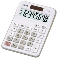 Casio MX-8B White Ideal Student Home Business Office Workers Desk Top Calculator
