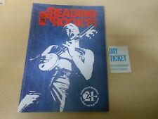 Reading Rock Festival 1981 Programme + Day Ticket