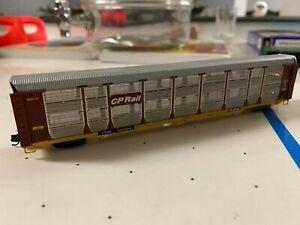 N Scale Red Caboose CP Rail Bi-Level Autorack #160324