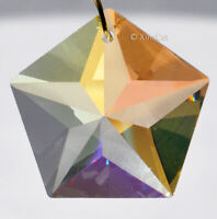 Star Suncatcher 30mm Crystal Clear AB Pentagon Chevron Prism Pendant 1-1/8 inch