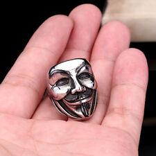 NEW COOL 316L Titanium Steel  Jewelry V For Vendetta Movie Mask Ring Sz 12