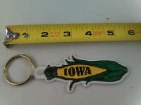 vintage IOWA rubber keychain fob ring key chain corn cob
