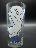 Vintage HTF 1973 CASPER THE FRIENDLY GHOST Pepsi Glass Blue Letter Harvey NOS