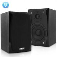 Pyle PBKSP22 HiFi Desktop Bookshelf Powered Bluetooth Speakers Pair - 300W