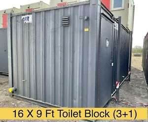 16 x 9 Ft Anti Vandal Site Toilet / Portable Toilet / Toilet Block Campsite