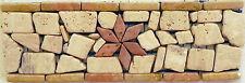 Rosone rosoni mosaici in marmo incollati su rete greca art105/4 IN MARMO