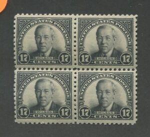 1925 United States Postage Stamp #623 Mint Hinged VF Original Gum Block of 4