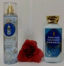 BATH AND BODY WORKS - FROSTED COCONUT SNOWBALL - BODY LOTION & MIST (SET) - NEW