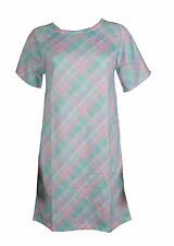 Unbranded Round Neck Plus Size Women's Check
