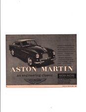 1957 ASTON MARTIN / PETER SATORI ~ ORIGINAL SMALLER PRINT AD