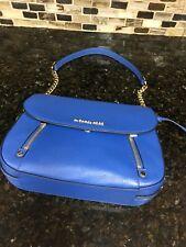 Michael Kors Bedford Legacy Ladies Vintage Blue Leather Shoulder Bag 30F9G06L2L