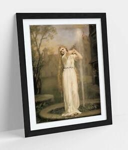 JOHN WILLIAM WATERHOUSE UNDINE -ART FRAMED POSTER PICTURE PRINT ARTWORK- BEIGE