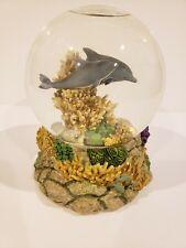 San Francisco Music Box Co. Snow Globe Dolphin Family