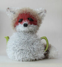 TeaCosyFolk Red Fox Tea Cosy Knitting Pattern to knit your own