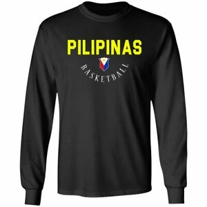Philippines Pilipinas National Basketball Team Logo T-Shirt FIBA Cup Long Sleeve