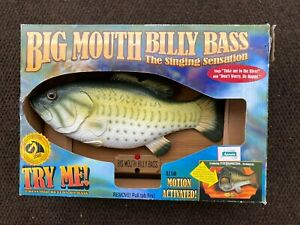 1998 BIG MOUTH BILLY BASS SINGING FISH TAKE ME TO THE RIVER DONT WORRY BE HAPPY