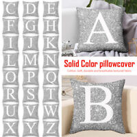 UK Cushion Letters Printed Square Glitter Throw Pillow Case Cover Home Decor ILC