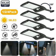 36LED Solar Power Motion Sensor Garden Security Lamp Outdoor Waterproof Light US