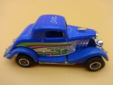 Hot Wheels Cal Custom Blue 34 3 Window Ford w/ real rider rubber tires - loose