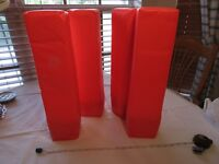Set of 4 football pylons corner weighted equipment 18 in NEON brand labels remov
