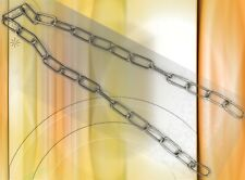 Lampen Kette Teile Zubehör Kabel  vernickelt 20x47/3,8mm p/m lose 1Meter Einheit