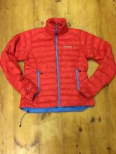 Berghaus Micro Baffle Hydrodown Down Insulating Jacket Red Blue Size 12 Women's
