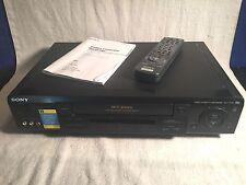 Vintage Sony Hi-Fi Stereo VHS VCR Plus SLV-777HF + Remote & manual Tested WORKS!