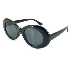 Clout Goggles Rapper Glasses Sunglasses Fancy Dress BLACK Oval Shades Grunge