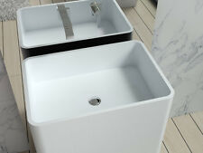 Free Standing Solid Surface Stone Resin Glossy Sink 24 x 17 inch - DW-105