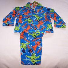 Dinosaur Train Boys Blue Printed Flannel Pyjama Set Size 1 New