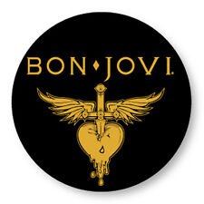 "Pin Button Badge Ø25mm 1"" Jon Bon Jovi Rock US Glam Metal"