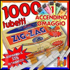 1000 tubetti ZIG ZAG mini con filtro SIGARETTE VUOTE Corte