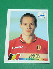 N°333 DE BILDE BELGIQUE BELGIË PANINI FOOTBALL FRANCE 98 1998 COUPE MONDE WM