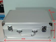 Aluminium Alloy Silver Carry Case for Tattoo Piercing Machine kit Supplies