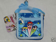 NEW WITH TAGS  BLUE  POWERPUFF GIRLS STRAP CASE COIN WALLET