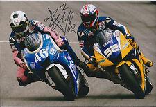 James TOSELAND SIGNED YAMAHA TECH3 races ROSSI 12x8 Photo AFTAL COA Autograph